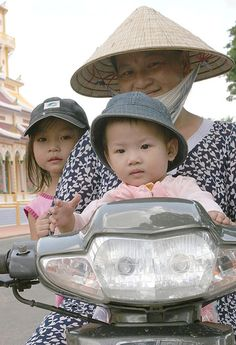 Three on a Scooter ~ Vietnam