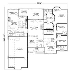 Country House Plan First Floor - 055D-0357 | House Plans and More
