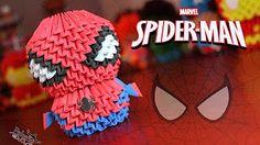 Origami 3D Mini Spiderman - YouTube