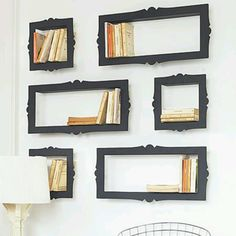 picture frame for hanging book shelves