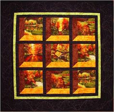 Quilt Inspiration: Free Pattern Day: Attic Windows Quilts and many others types of quilts too.