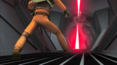 This is my favorite scene from Star Wars Rebels this far.  I love how protective Kanan and Ezra are of each other.  Their friendship is so beautiful!  The Inquisitor has such an awesome lightsaber!  I love how in Star Wars Rebels the good guys do not always win!  Awesome fight!  Ezra's line at the end is so funny!