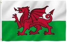 Soccer Nation Flag WALES (3ft x 5ft, 150x90cm)
