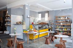 Superette 66 Albert Road The Woodstock Exchange Woodstock, Cape Town Western Cape Food Places, Places To Eat, Cafe Design, Store Design, Bar, Beautiful Interiors, Cape Town, Interior And Exterior, Sweet Home