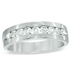 10 best images about grooms band ideas on pinterest personalized jewelry white gold and satin - Zales Mens Wedding Rings