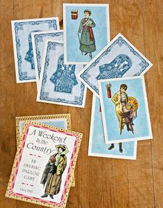 "Reinvent ""game day"" for Thanksgiving. Post dinner, fight the tryptophan sleep urge with a round of old-school parlor pursuits — from charades to A Weekend in the Country, this Old Maid — like card game."