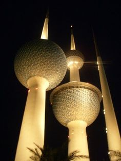 Kuwait Towers...awesome place. I still have the souvenir shirts i bought in the gift shop in the tower.