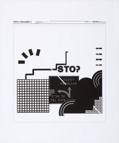Wolfgang Weingart - Collage 4-Kunstgrafik, 1974