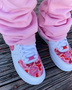nike air force 1 pink bapes via @ashaiarivera on Instagram - #nike #airforces