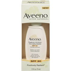 Aveeno Positively Radiant Daily Moisturizer SPF 30 . *Learn about non comedogenic moisturizers and see my top picks at http://bestmoisturizerguide.com/non-comedogenic-moisturizer.