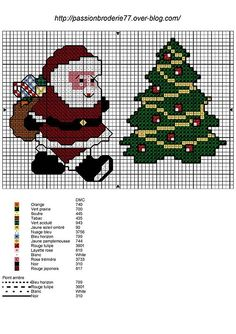Free Christmas Cross Stitch Patterns | Found on passionbroderie77.over-blog.com