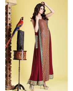 I LUV Designer - 3 Piece Zahra Ahmad Pakistani Formal Party Wear Dress Winter Collection 2014 - Pakistani Dresses Latest Fashion,gown