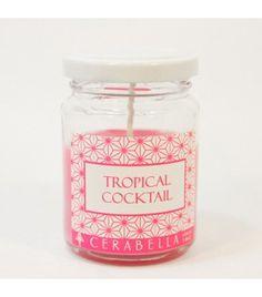 Cóctel Tropical - Vela perfumada en frasco de vidrio 150gr