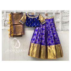 Lehenga Blouse, Saree Dress, Indian Dresses For Kids, Mom Daughter, Half Saree, Baby Girl Dresses, Designer Wear, Tie Dye Skirt, Hand Embroidery