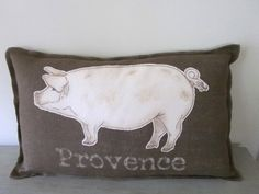 TRUFFLES French Market Pig Pillow Cover Rustic by UrbanNestDesigns, $39.00