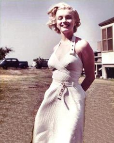 Marilyn during the filming of As Young As You Feel, 1951.
