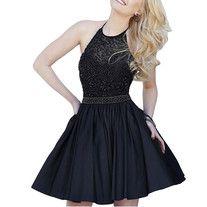 Charming Black Homecoming Dress,Short Homecoming Dress,Satin Homecoming Dresses