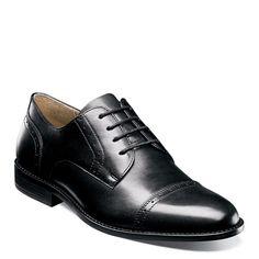 Nunn Bush Men's Sparta Medium/Wide Cap Toe Oxford Shoes (Black Leather)