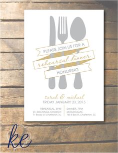 Rehearsal Dinner Banner Invitation with by kedesignstudio on Etsy