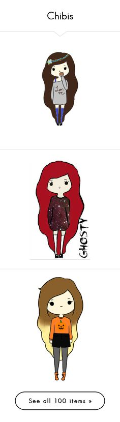 """Chibis"" by thequeenofreading ❤ liked on Polyvore featuring fillers, drawings, doodles, chibi, art, backgrounds, quotes, phrase, saying and scribble"