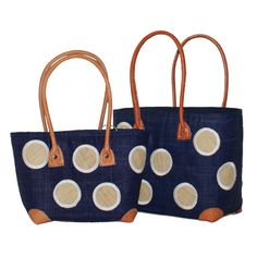 We have gone dotty about these baskets - so eye catching and practical to boot - www.violetagnes.co.uk