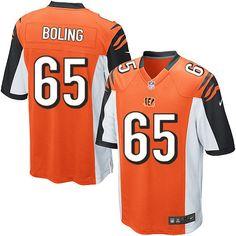 Nike Limited Clint Boling Orange Youth Jersey - Cincinnati Bengals #65 NFL Alternate