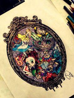 Alice's Wonderland Ch.1 Down The Rabbit Hole-Serafini Amelia| Alice in Wonderland