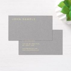 Stylish Professional Elegant Grey Gold Luxury Business Card - minimal gifts style template diy unique personalize design