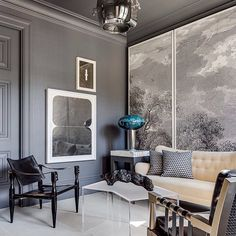 435 отметок «Нравится», 8 комментариев — N I N A T A K E S H (@ninatakesh) в Instagram: «Gentleman's lounge T the San Francisco Showcase House @echemartinez»
