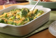 Here's a fabulous side dish that pairs well with almost any entrée. Broccoli is mixed with a flavorful cheese sauce, topped with buttered bread crumbs and baked to perfection.