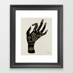 Buy Palmistry Framed Art Print by catcoq. Worldwide shipping available at Society6.com. Just one of millions of high quality products available.