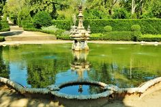 Take a moment to relax by this tinkling fountain on hot day at the palace.
