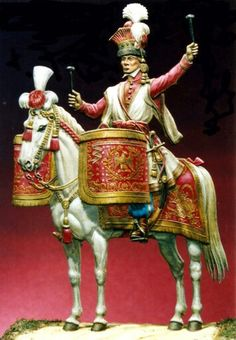 Timpanista del rgt. lancieri Rossi della guardia imperiale francese