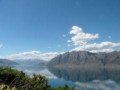 Lake Hawea, New Zealand. Taken by a Kiwi Experience passenger.