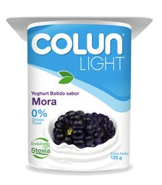 Colun - Productos: Yogures - Yoghurt Batido Light sabor Mora 125g