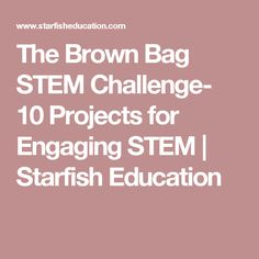 The Brown Bag STEM Challenge- 10 Projects for Engaging STEM | Starfish Education