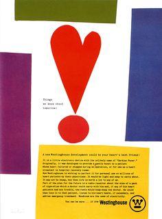 Westinghouse ad, Paul Rand 1961
