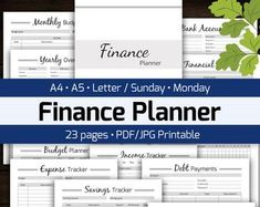 Monthly Budget Planner Printable, Finance Money Tracker, Spending Expense Tracker, Personal Home Organizer, Home Management PDF Planner Business Expense Tracker, Business Planner, Finance Tracker, Finance Blog, Monthly Budget Planner, Printable Planner, Printable Budget, Budget Spreadsheet, Printables