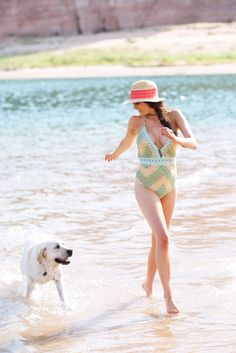 At the Lake… - Rach Parcell Fedora Hat, Pink Peonies, Anthropologie, 21st, Live, Retro, Beach, Style