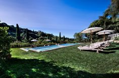 In case it is too hot, you know what to do… The pool at Il Salviatino Luxury Hotel Florence Tuscany