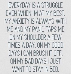 It's a daily battle. A real battle. A hard battle. It either hits me all at once, or it creeps little by little. No matter what I face or how my illness works against me, I stand and I deal. I have to. I refuse to be a statistic. I refuse to be left behind.