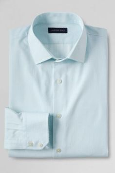 Men's Traditional Fit Pattern 100% Cotton Spread Collar Dress Shirt from Lands' End
