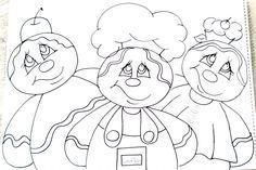 Pintura em Tecido: Trio de Gingers