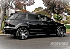"2011 Audi Q7 with 22"" CEC C883 SUV in Matte Black wheels Audi Cars, Audi Suv, Suv Rims, My Dream Car, Dream Cars, Dream Life, Audi Q7 Black, Wheel And Tire Packages, Jeep Suv"