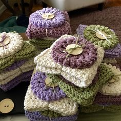 Pixie HeartStrings~Washcloth & Scrubby gift sets. Nice shower gifts...