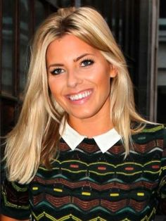 Mollie King, long bob with blunt ends and shorter pieces in front