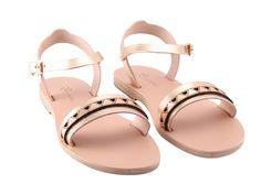 Beneverro Laia #sandals #gold | #handmade, vegetable tanned vachetta #leather, #madeingreece