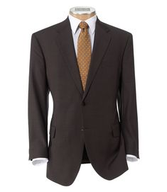 Signature 2-Button Wool Suit with Plain Front Trousers CLEARANCE