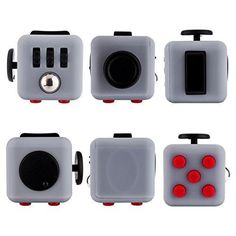 Fidget Cube Relieves Stress And Anxiety for Children and Adults Anxiety Attention Toy (White&Red)