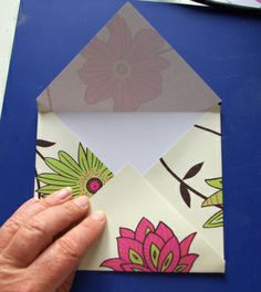 Fold your own envelopes out of pretty paper!!